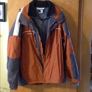 Columbia 2 Piece Interchangeable Outer Wear Coat